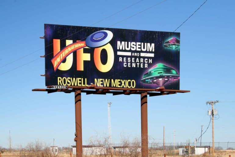 UFO museum sign