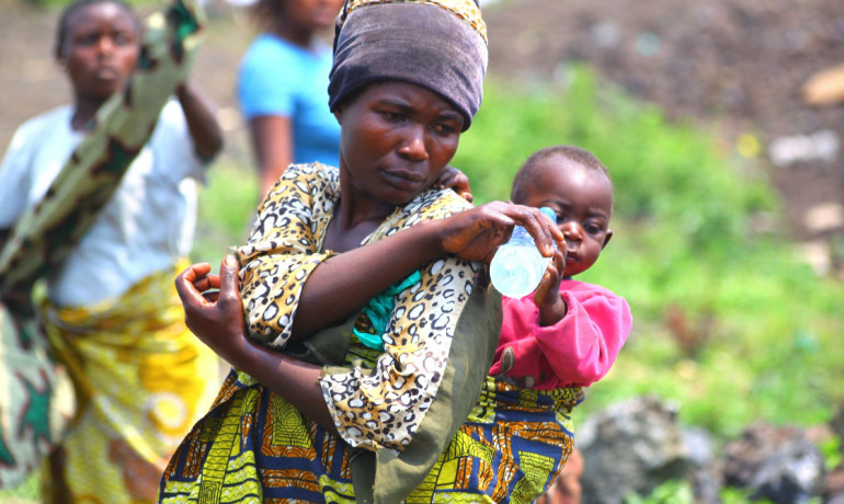 mother and child in the DRC