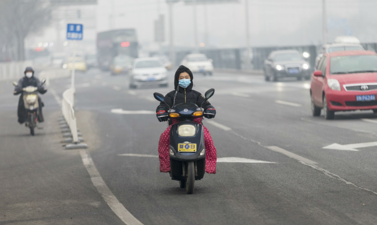 Beijing traffic and air pollution
