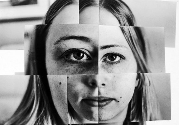 composite image of a woman's face