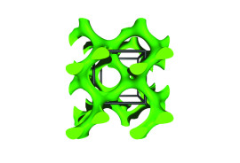 Model of the self-assembled gyroid superconductor.