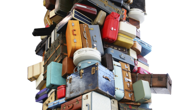 tower of luggage
