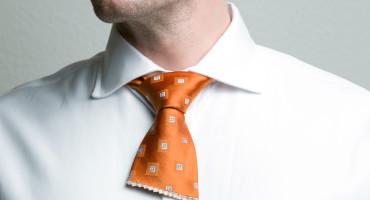 cut neck tie