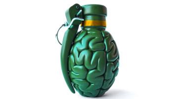 grenade shaped like a brain