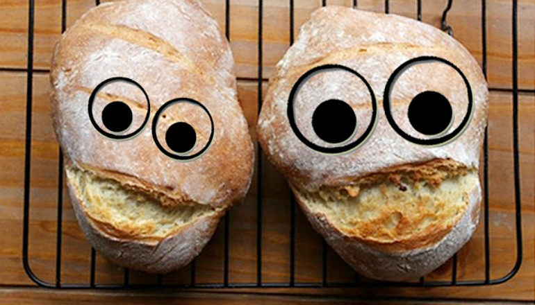 silly bread faces