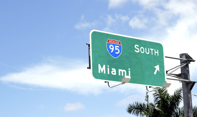 Miami road sign