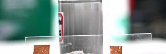 liquid-metal particles