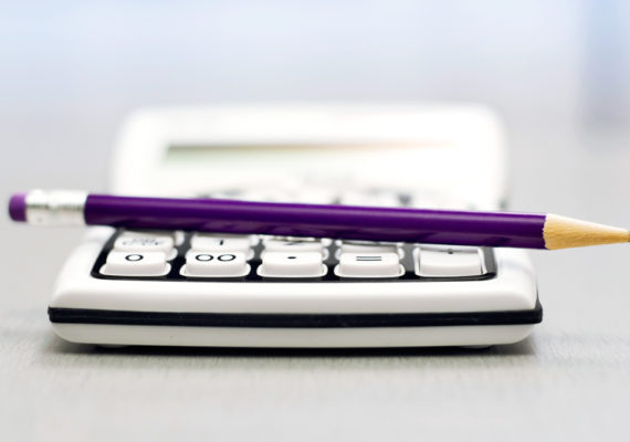 calculator and pencil