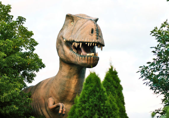 dinosaur lurks in trees