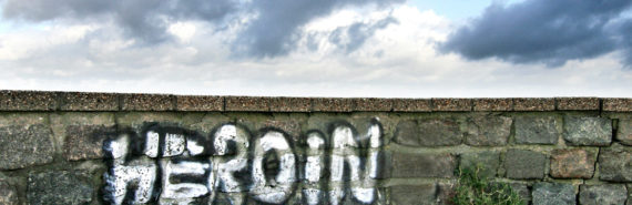 heroin graffiti on wall