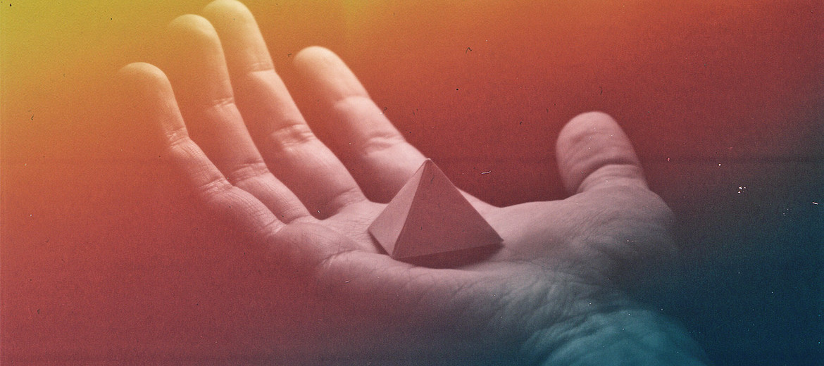 pyramid in hand