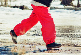 red snowpants