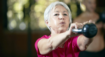 Older adults who strength trained at least twice a week had 46 percent lower odds of death for any reason, 41 percent lower odds of cardiac death, and 19 percent lower odds of dying from cancer. (Credit: iStockphoto)