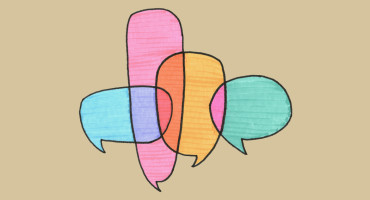 overlapping speech bubbles