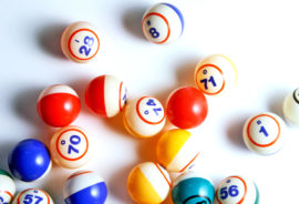 bingo balls on white