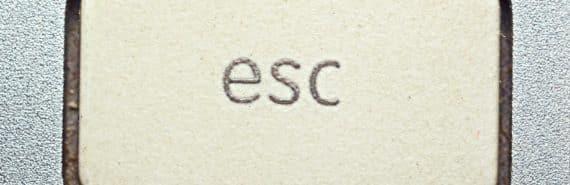 escape key