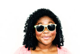 happy woman with sunglasses