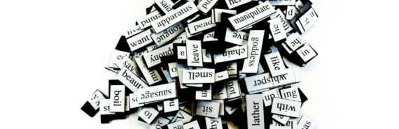 magnetic poetry in b/w