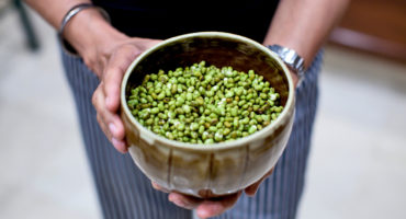 bowl of mung beans