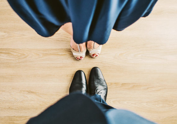 tall couple's shoes