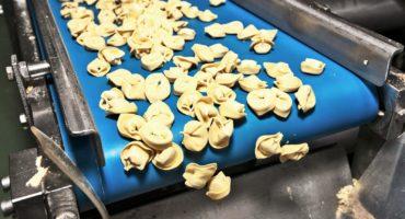 tortellini on conveyor belt