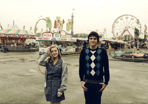 teenagers at a carnival