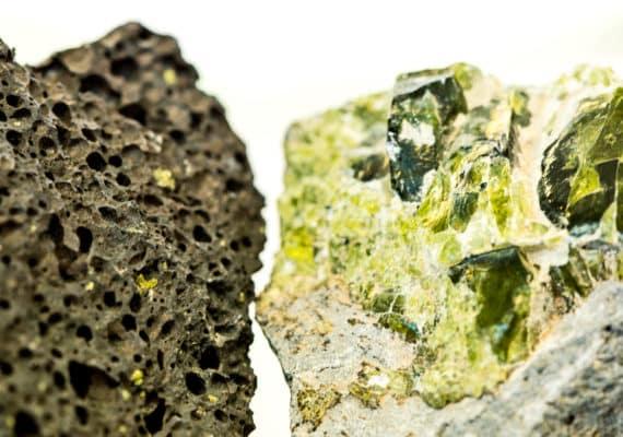 basalt and crystal - earth's crust