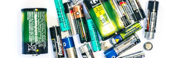 batteries on white