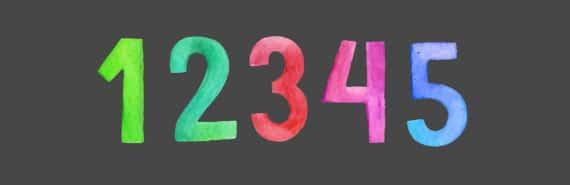 number illustration
