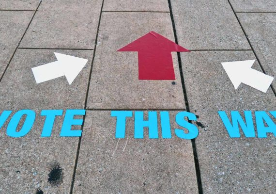 confusing sign about voting