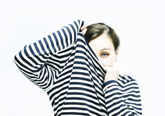 girl in striped shirt