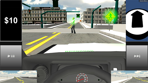 Teens with autism practice driving in virtual reality