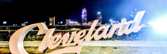 cleveland sign and skyline