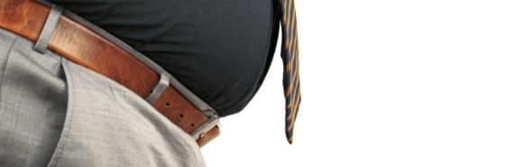 overweight man's waist