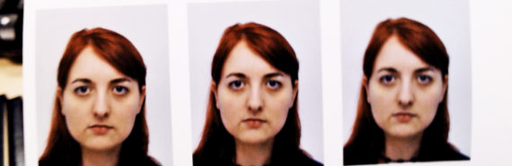 series of passport photos