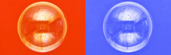 red and blue bubbles