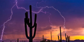 lightning during arizona monsoon