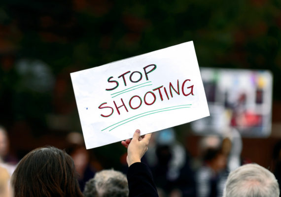 stop shooting sign