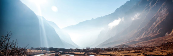 Langtang valley in Nepal