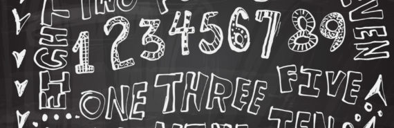 numbers and words in chalk