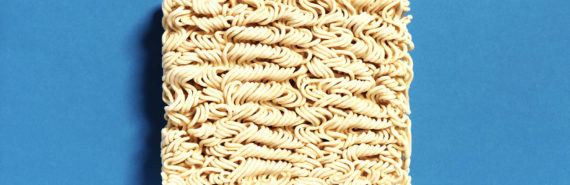 block of ramen noodles