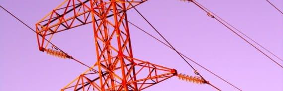 red power line on purple sky
