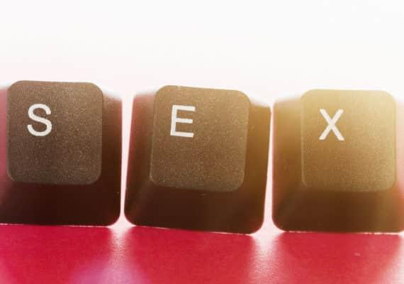 computer keys spell sex