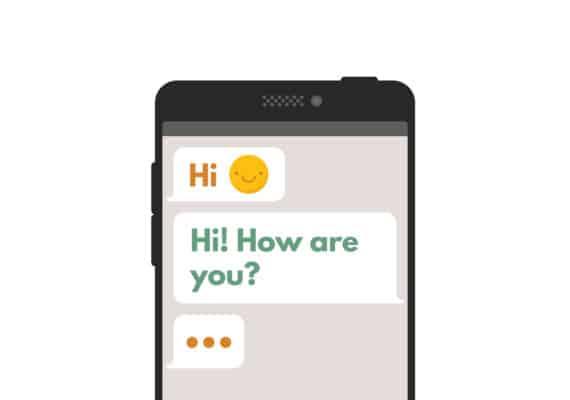 texting on phone illustration