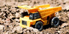 toy truck in dirt