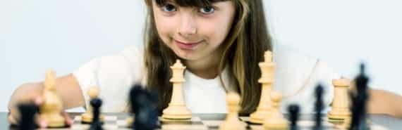 girl plays chess