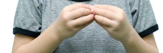 child uses sign language