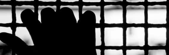 hand of prisoner