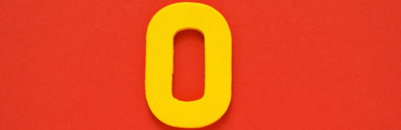 yellow O on red