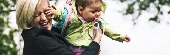 baby slaps mom in the face